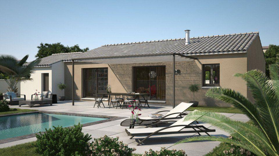 Plan achat maison neuve à construire - Les Maisons de Manon Amandine GA V1 80…