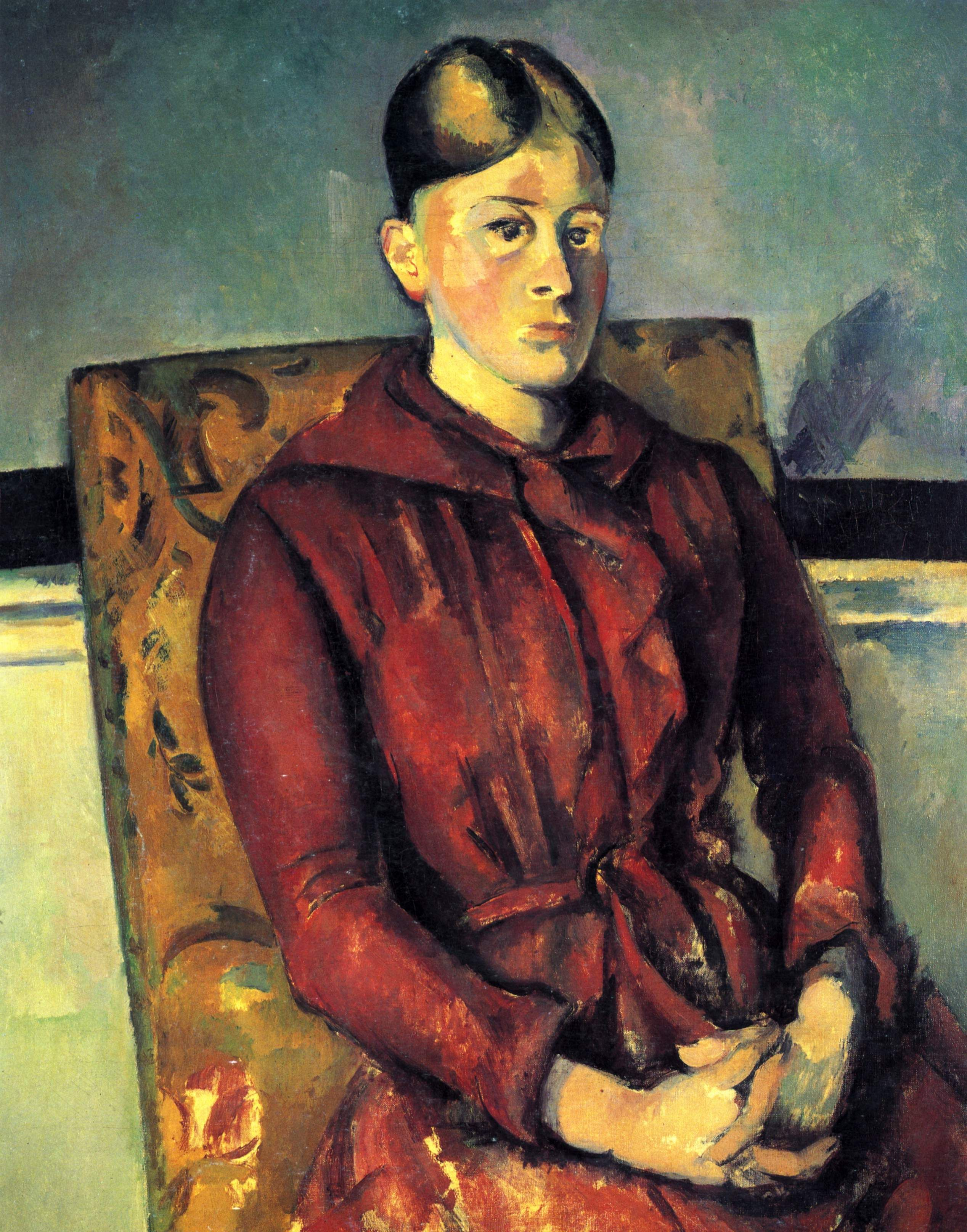 Madame Cezanne with a Yellow Armchair, 1890 Paul Cezanne | Cezanne ...