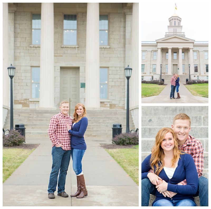 Downtown Iowa City Old Capitol engagement session. Iowa Wedding Photography | CTW Photography
