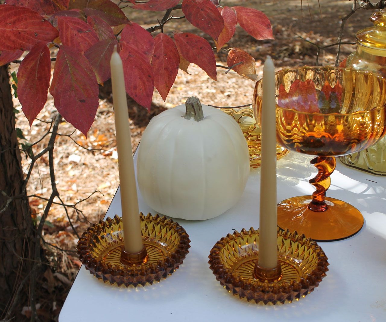 Wedding decor images zimbabwe  Vintage Amber Glassware Rental Collection  Pinterest  Accent