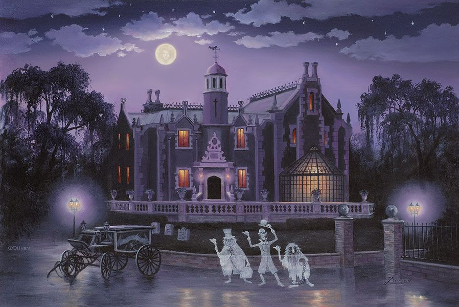The Haunted Mansion By Larry Dotson Disney Artists Disney Haunted Mansion Haunted Mansion Tattoo