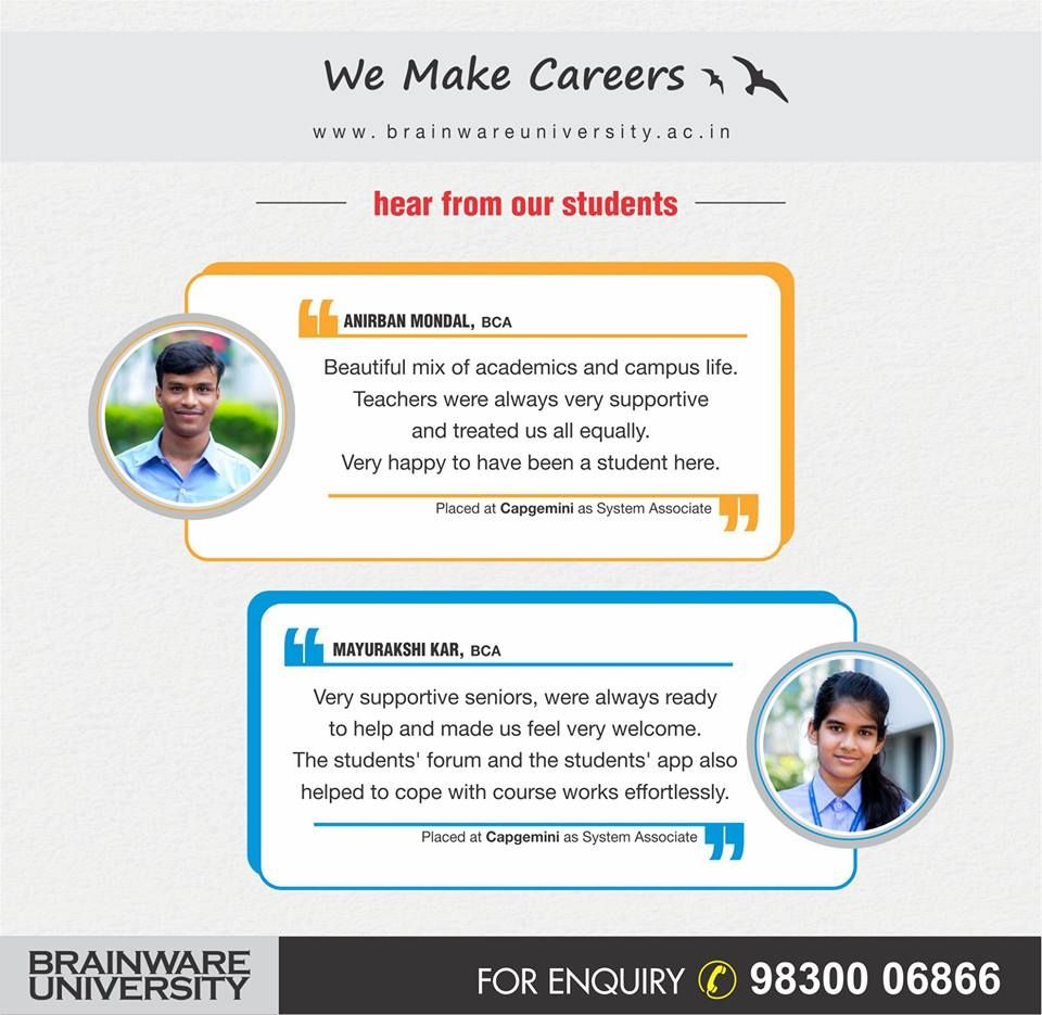 Brainware Universities Student Testimonial Importance