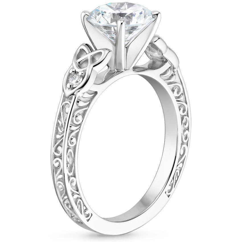 18K White Gold Aberdeen Diamond Ring Weddings Pinterest White