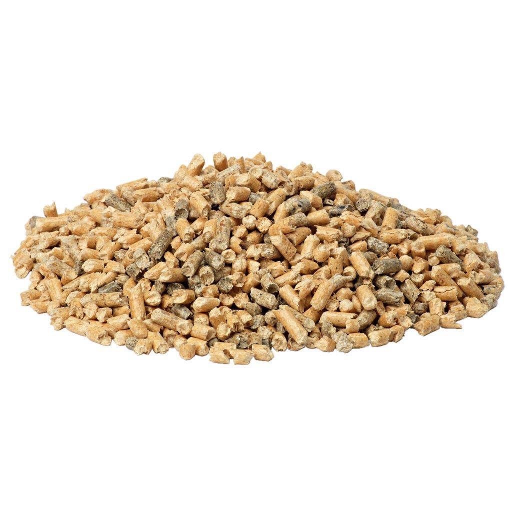 Reserveløsning: Trepellets 8mm 16kg fra Jula (store pellets)