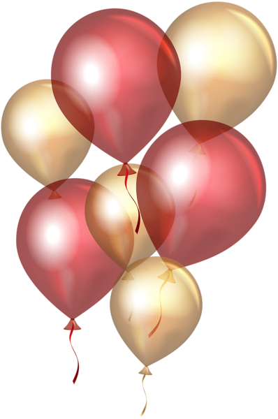 Transparent Red Gold Balloons Png Clip Art Gold Balloons Clip Art Balloons
