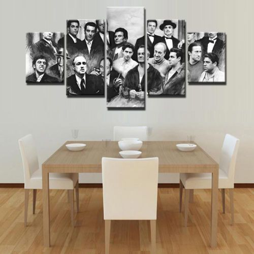 Godfather 5 pcs gangster Movie Painting Print Canvas Wall Art Poster ...