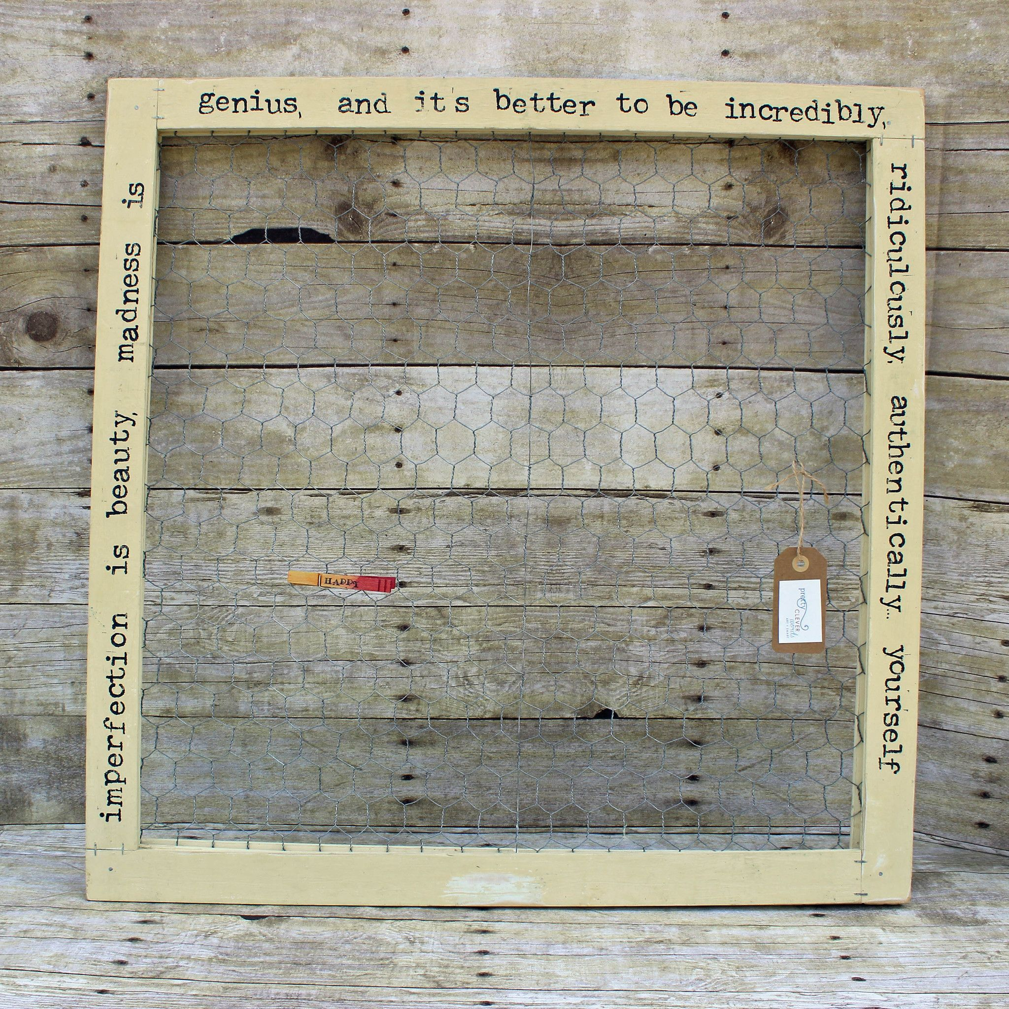 Imperfection is beauty chix wire wood frame | Joya