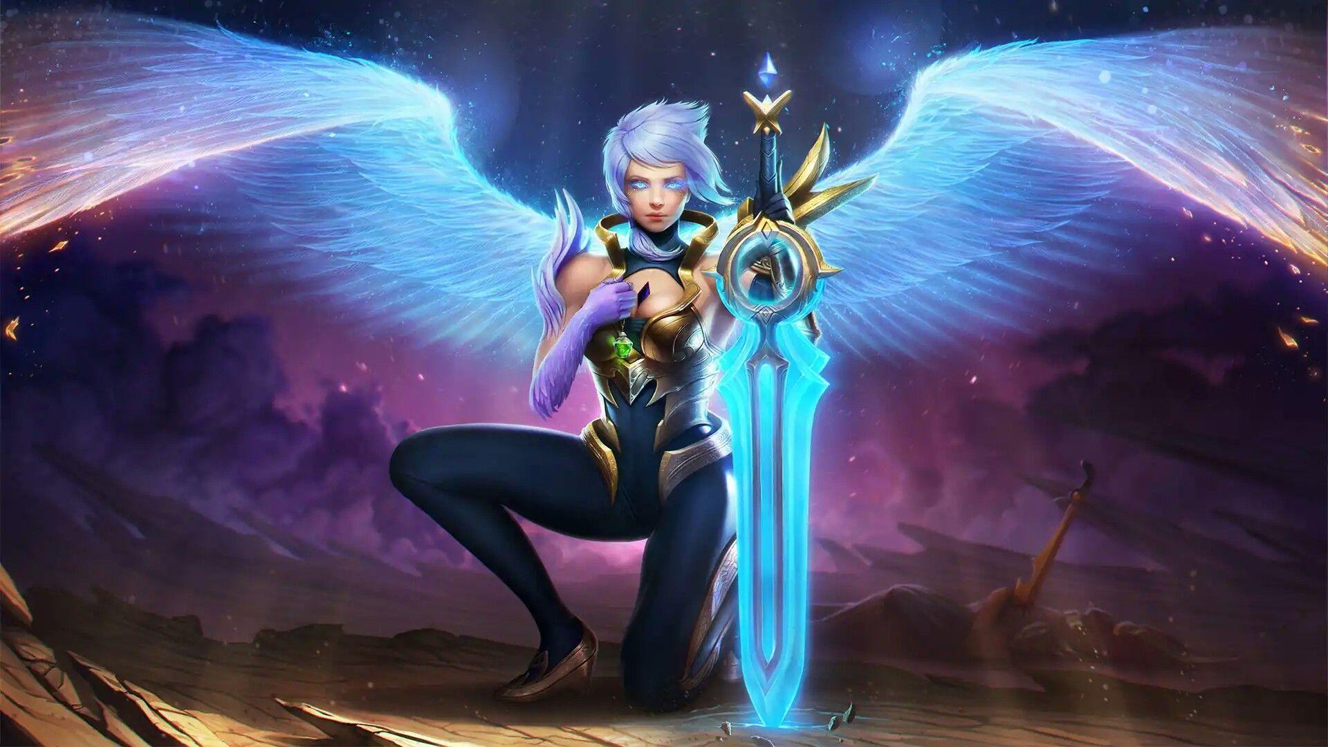 Angel Blade Riven Com Imagens Liga Dos Lendarios Campeoes De