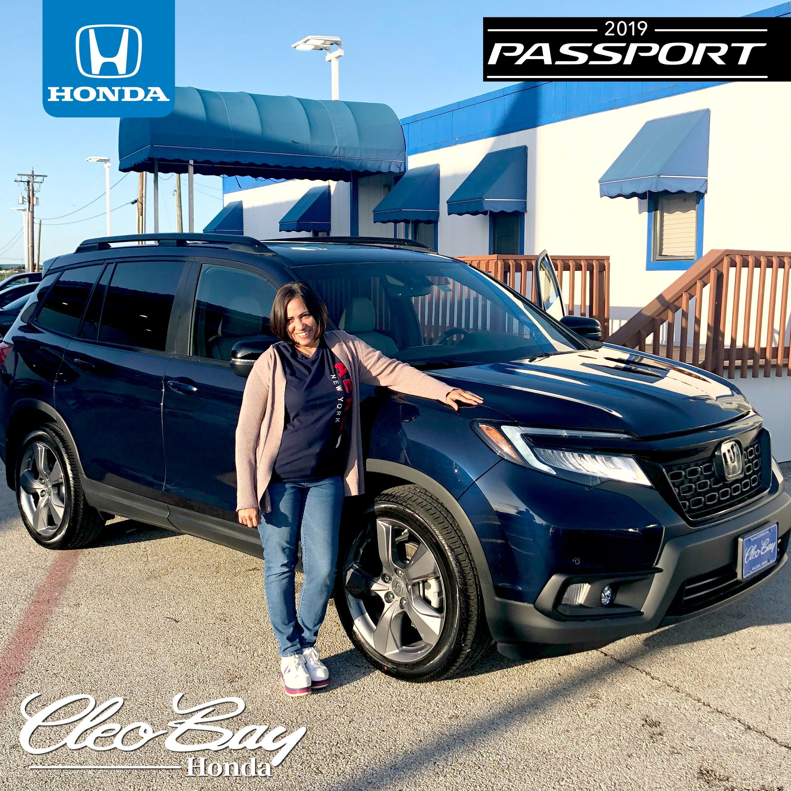 Congratulations Evelyn On Your Recent Purchase Of A New 2019 Honda Passport Touring Click The Pic To Check Out Our Complete Inv Honda Passport New Honda Honda