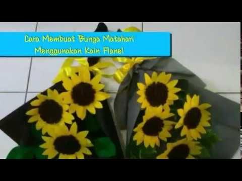 Diy Felt Sunflower Cara Membuat Bunga Matahari Flanel Youtube Kain Flanel Buket Bunga Bunga