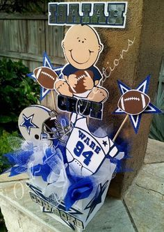 Dallas Cowboys Baby Shower Cake   Dallas Cowboys Centerpiece