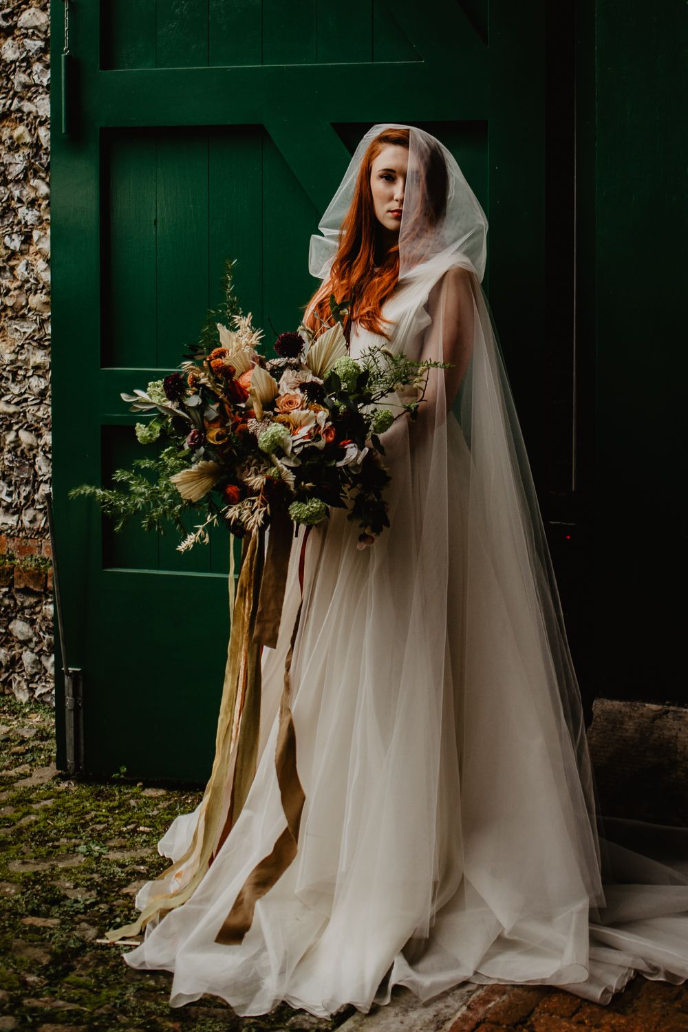 Earthy Elopement Wedding Ideas With Capes A Crescent Moon Pampas