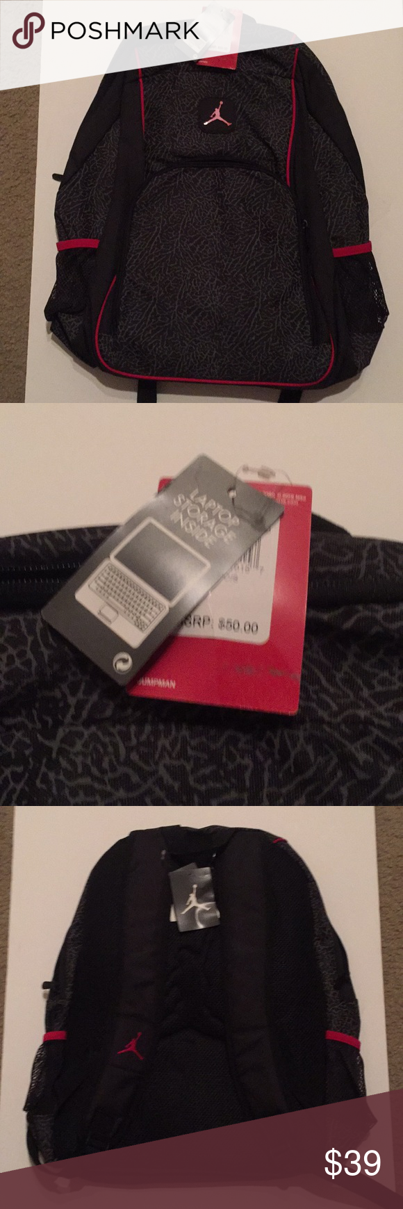 daff9475b50b89 NEW Jordan Brand Backpack Brand new Jordan Brand Backpack Black gray Red!  The tags are still attached and read  50! Jordan Bags Backpacks