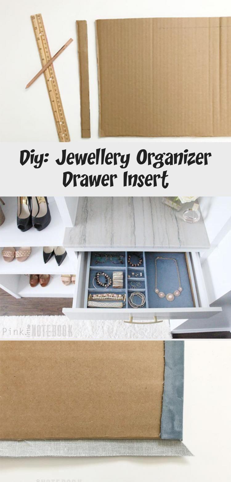 Diy jewellery organizer drawer insert pink little