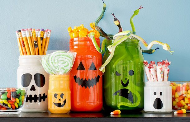Halloween Mason Jar Ideas Halloween jars, Halloween fun and - halloween jar ideas