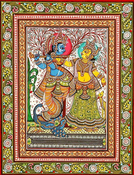 Krishna Indian Folk Art Paintings