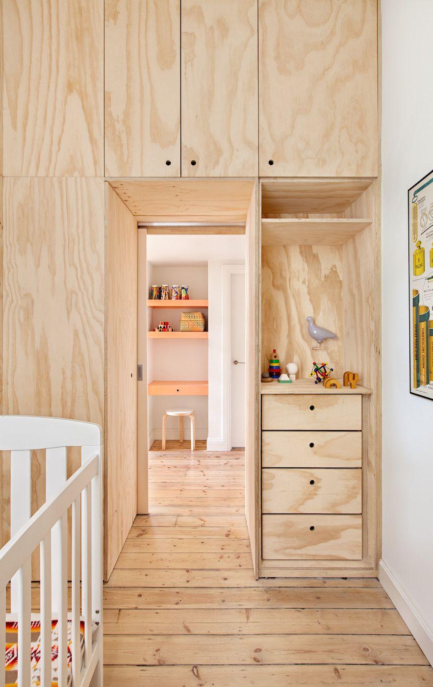 Japaneseinspired microbedroom plywood interior
