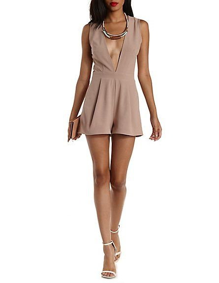 e8df74f89dcb Deep V Open Back Romper