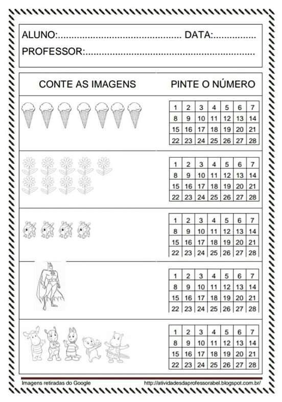 Numeros Atividades De Matematica Atividades Para Educacao