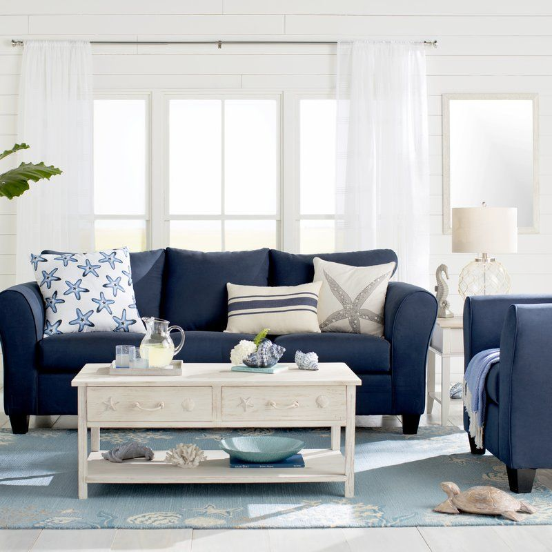 Best Fredericktown Sofa In 2019 Coastal Living Rooms Blue 640 x 480