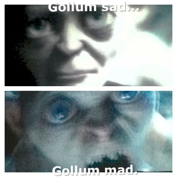 Gollum and his split personalities... :)
