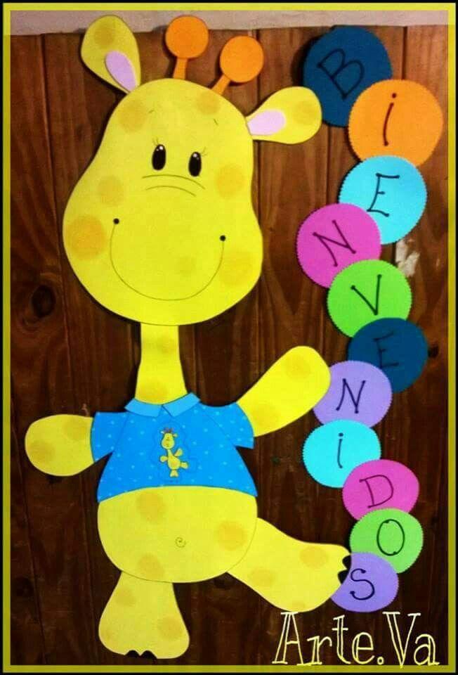 Para Dar La Bienvenida Decoracion Aula De Preescolar Decoracion De Aulas Decoracion Preescolar
