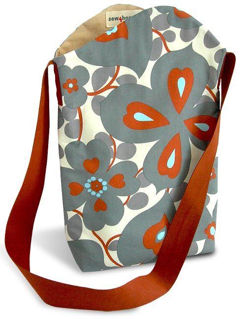 15 Free Sewing Tutorials: Totes & Bags | Taschen nähen, Nähen und ...