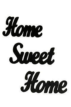 Jotex Svart HOME SWEET HOME väggskylt 3 delar