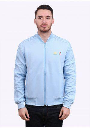 234c4288a Adidas Originals x Pharrell Williams Supercolor Mono Colour Track Top -  Clear Sky