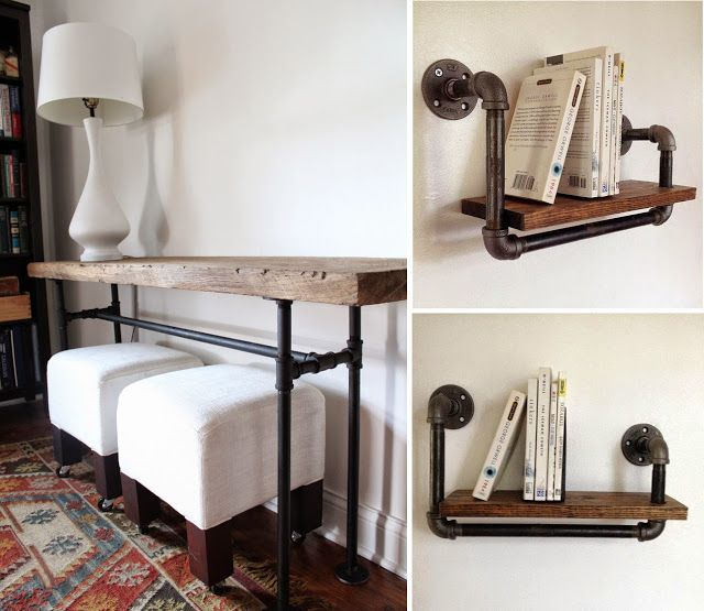 industrial look 26 stylische m bel aus rohrverbindern stylische m bel sideboard selber. Black Bedroom Furniture Sets. Home Design Ideas