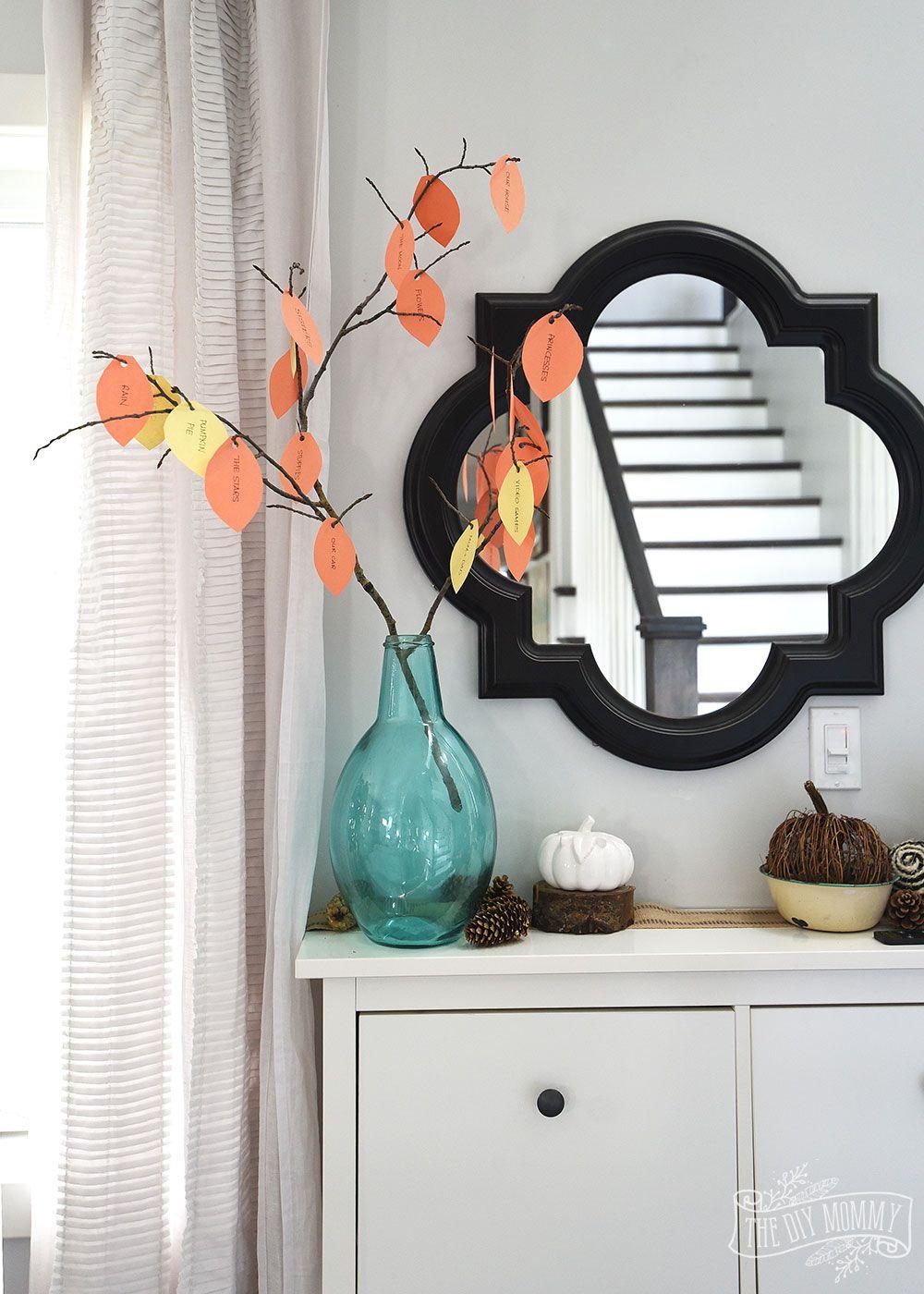 Make a Thankful Tree A Thankgiving Kid's Craft Tip