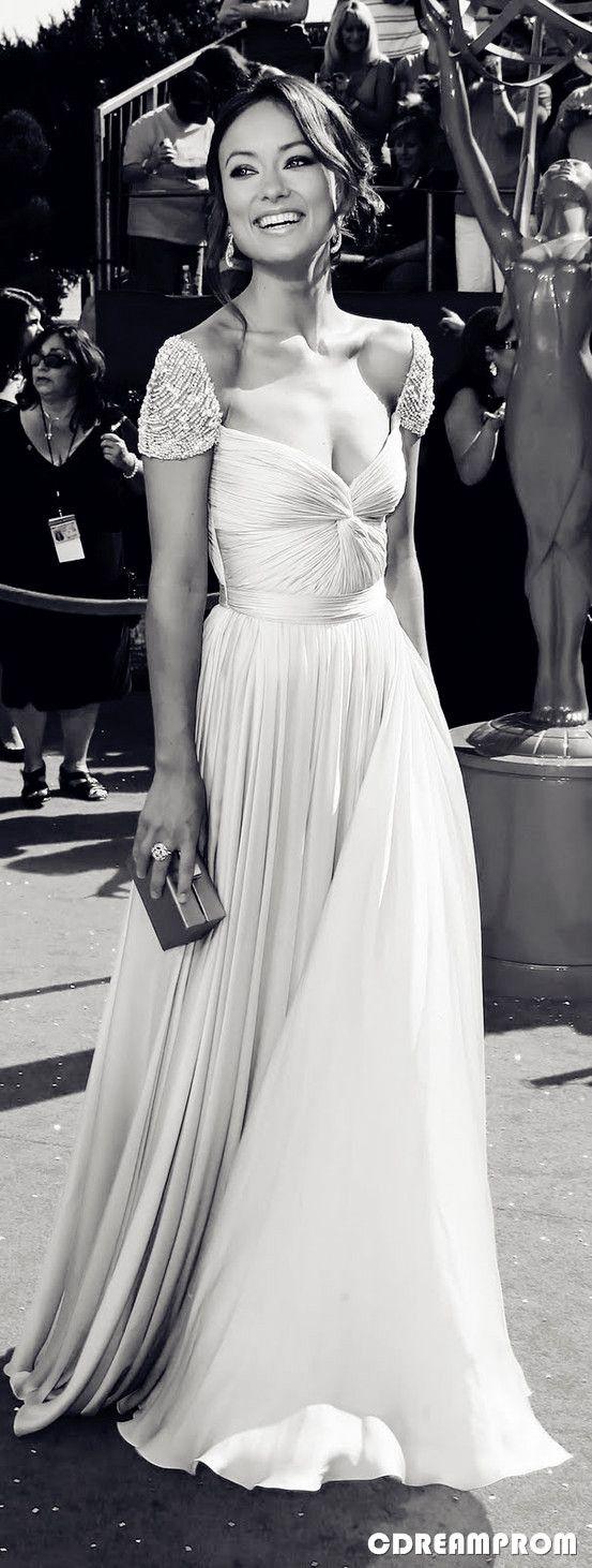 Prom dress evening dress elegant white pinterest prom wedding