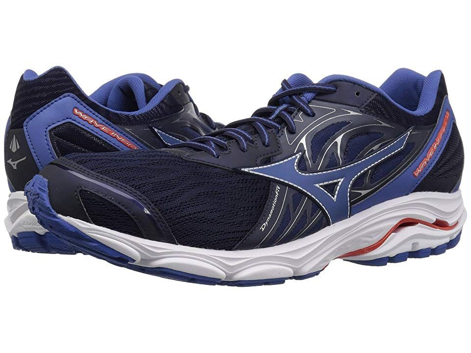 Mizuno Wave Inspire 14 Evening Blue Cherry Tomato Men S Running Shoes Enjoy A Smoother Ride With The Durable With Images Running Shoes For Men Shoes Hoka Running Shoes