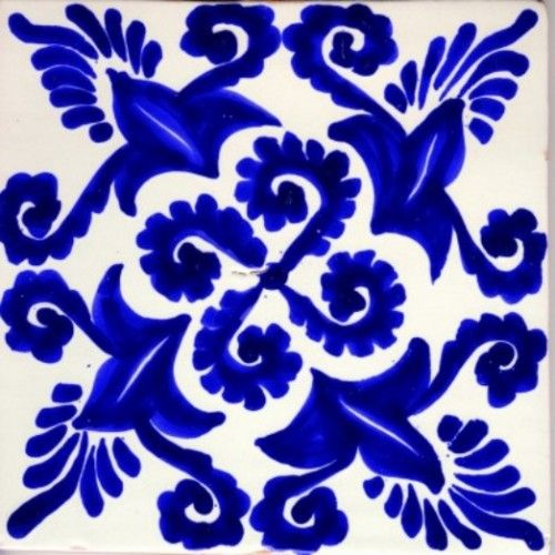 Mexican Tile Cobalt blue Cobalt and Moon