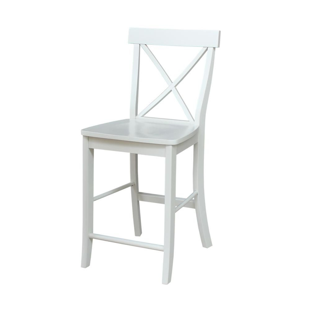 International concepts x back in linen bar stool stools and