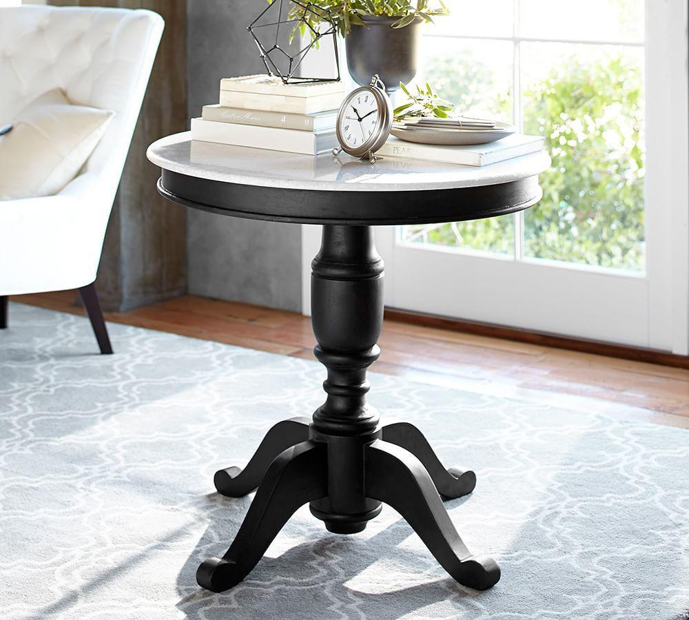 Terri Mesa Lateral con Pedestal-Pottery Barn | MENESSE | Pinterest ...