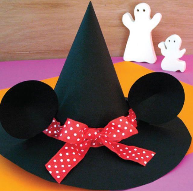 bricolage halloween le chapeau de sorci re de minnie centre pinterest halloween. Black Bedroom Furniture Sets. Home Design Ideas