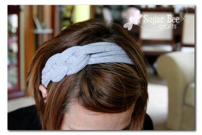 Knotted Headband made from Tshirts