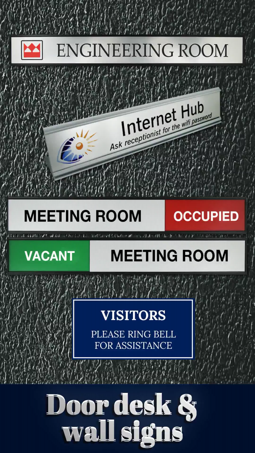 We Make It Easy To Order Office Door Wall And Desk Signs Request A Quote Www Smartedgebadges Com Au Quick Turnaround With An Easy Video Business Signs
