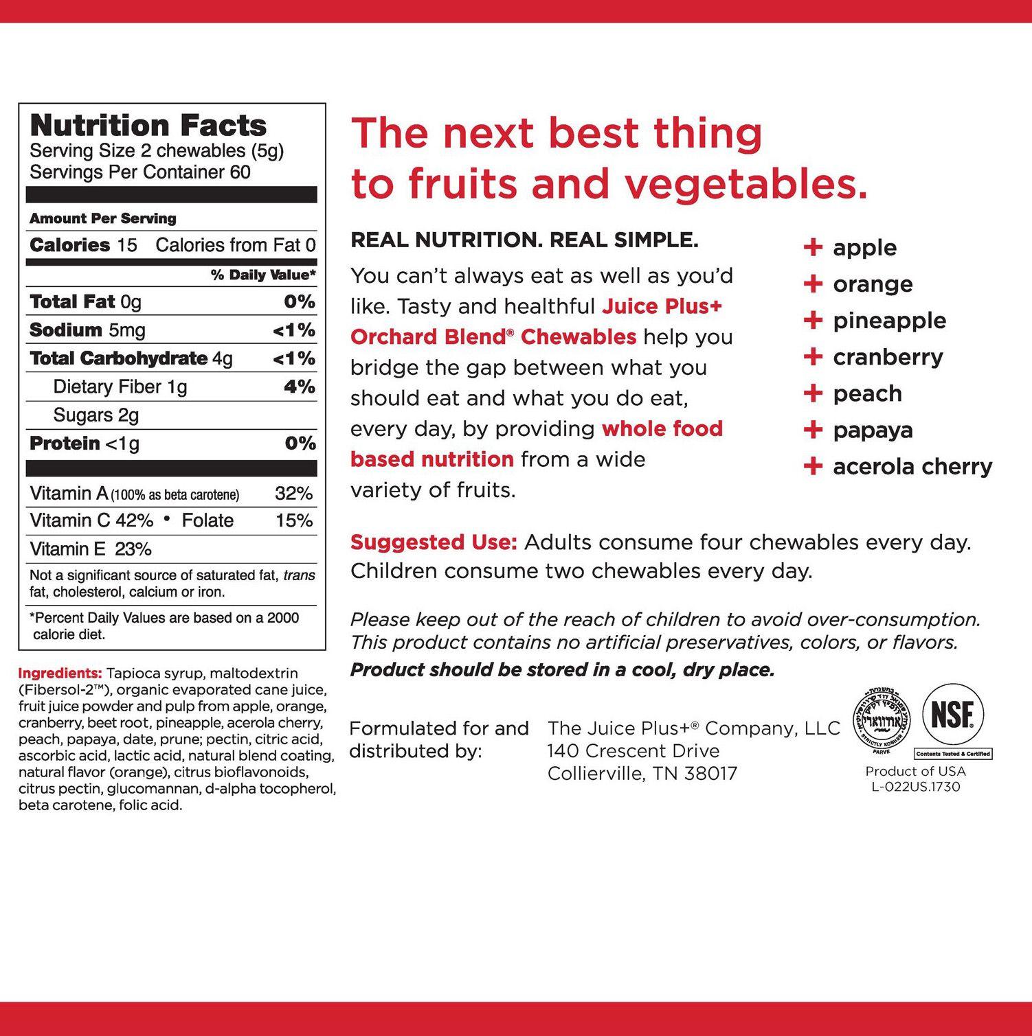 buy juice plus+ orchard & garden blend - gummies | juice