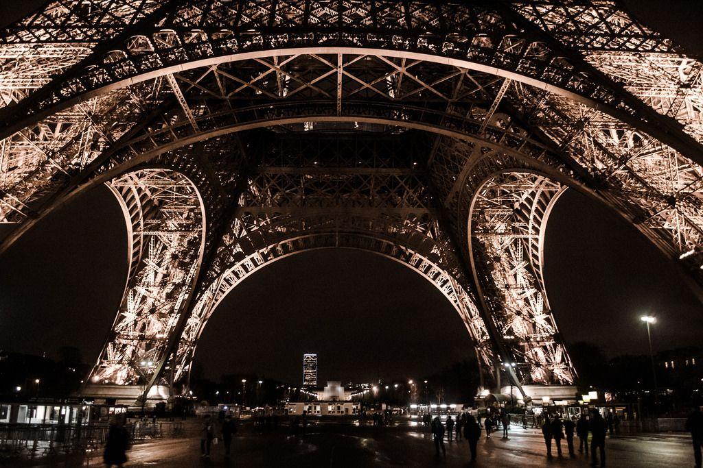 Tatsiana Volskaya  Eiffel Tower close up view, Paris, 2017