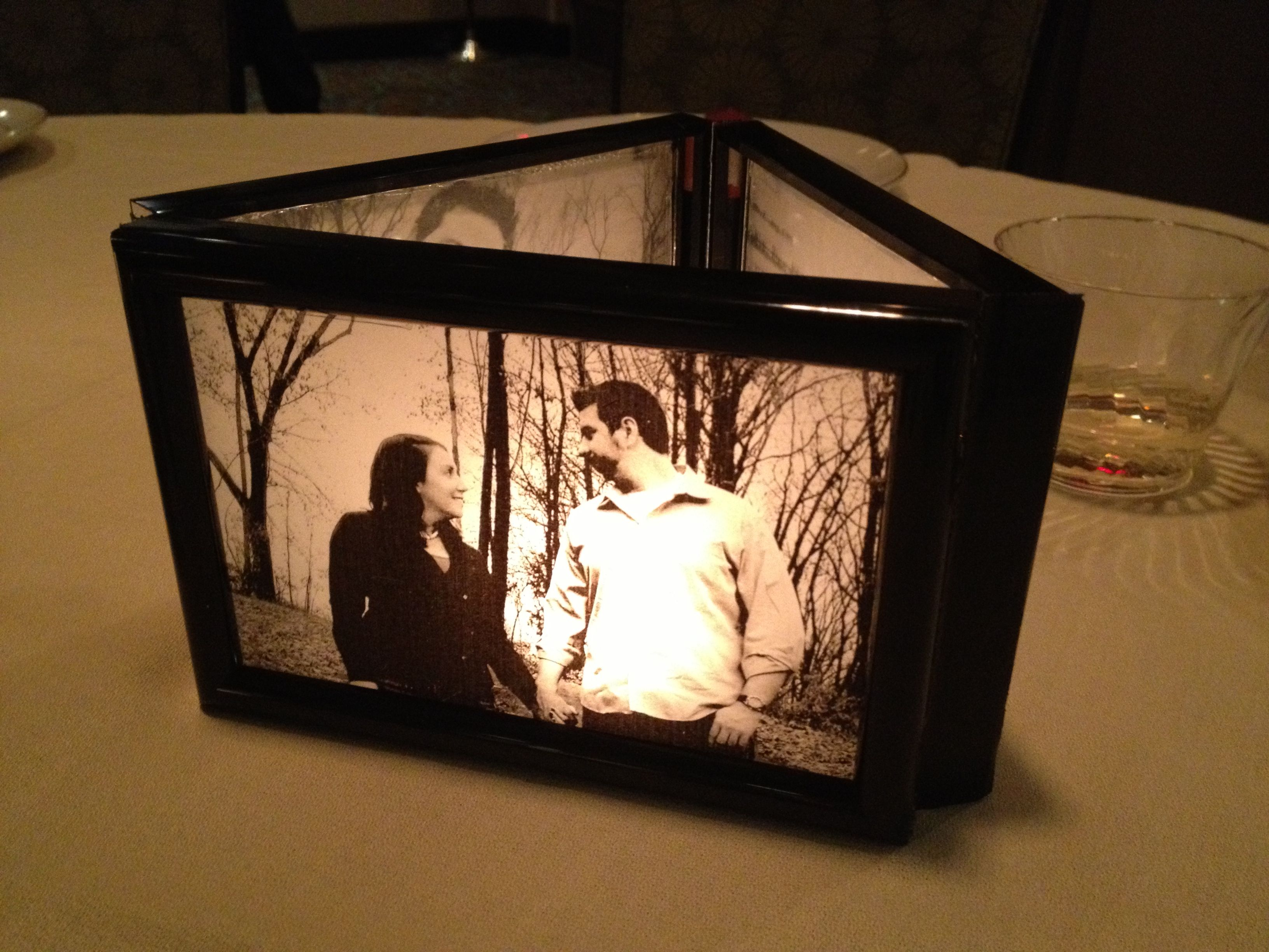 how to put writing on glass frame