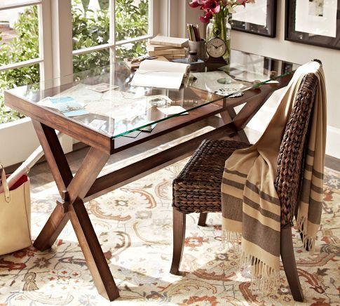 Ava Glass Display 52 Wood Desk Wood Desk Home Grey Wood Furniture