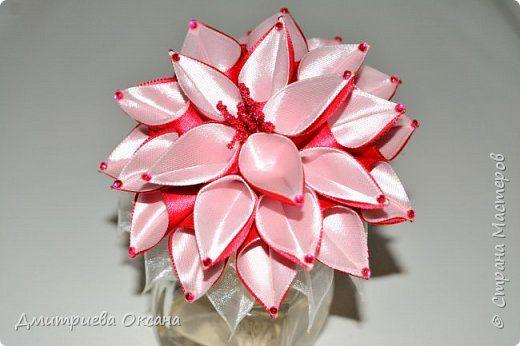 Цветы канзаши видео мастер класс