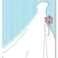 Wedding Gown Blank Bridal Shower Invitation | Wedding stuff ...