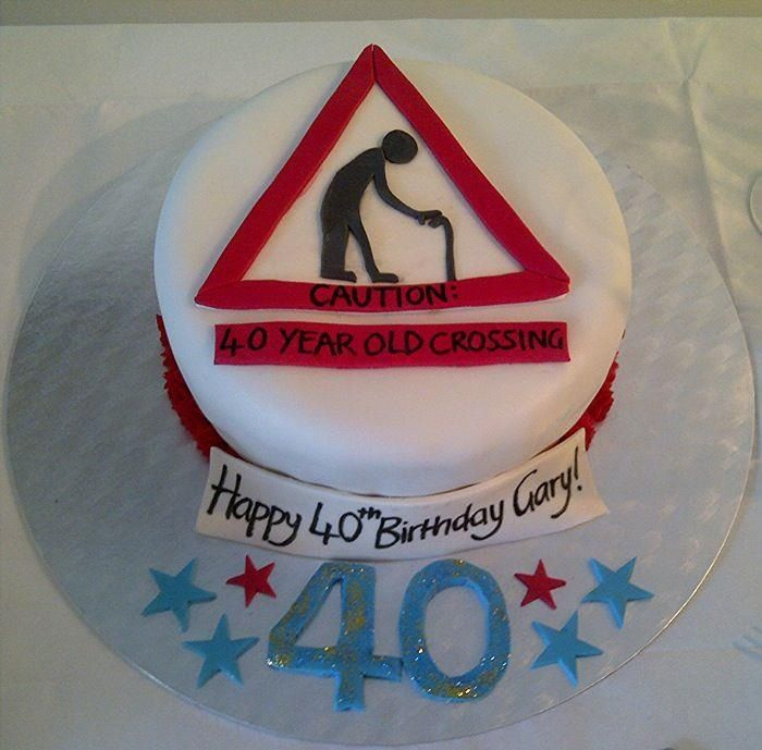 40th Birthday Cake Old Man By Stephanie Sell With Images
