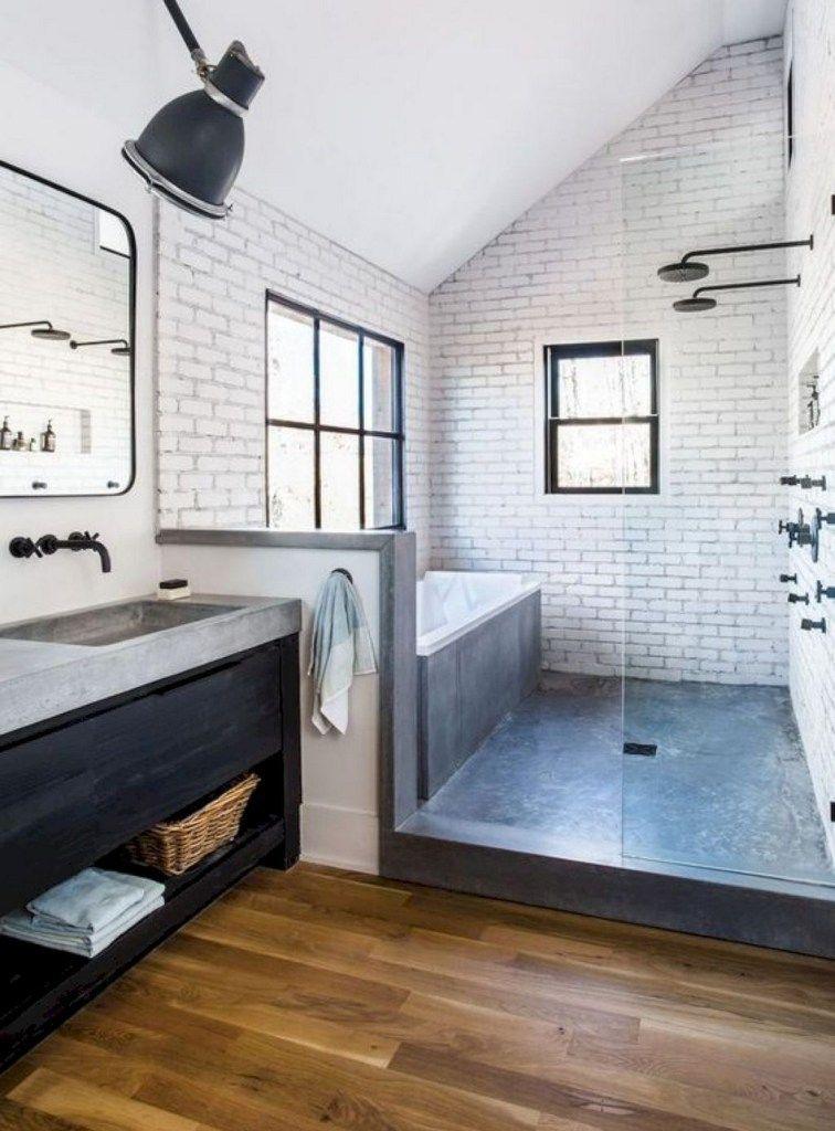 50 Amazing Main Bathroom Model Ideas Farmhouse Master Bathroom