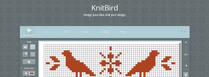 KnitBird is a drawing program designed to create knitting ...