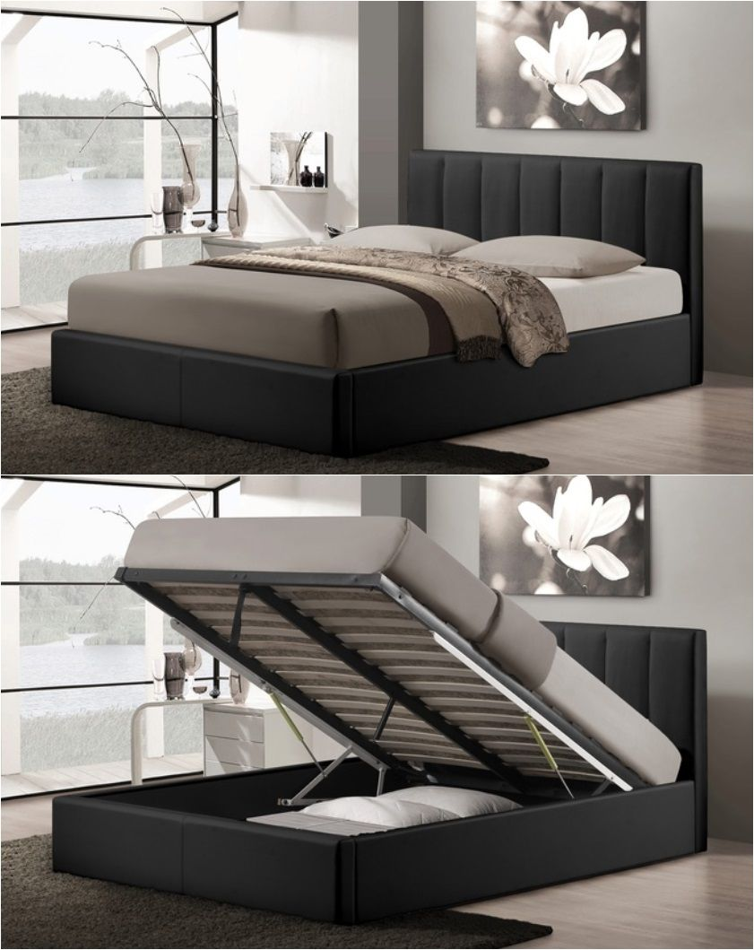 Porter Upholstered QueenSize GasLift Storage Bed Lift