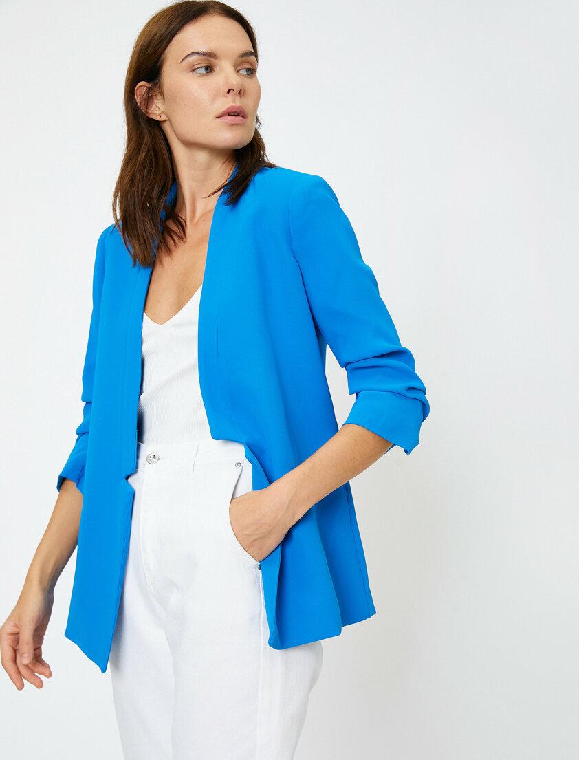 Cep Detayli Ceket Giyim Kadin Sik